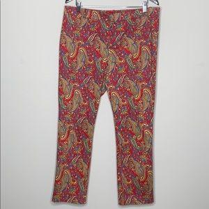 Lauren Ralph Lauren Size 14 Paisley Print Pants